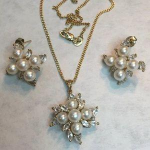 Jewelry - Heng Ngai Designer Vintage 14k Necklace & Earrings